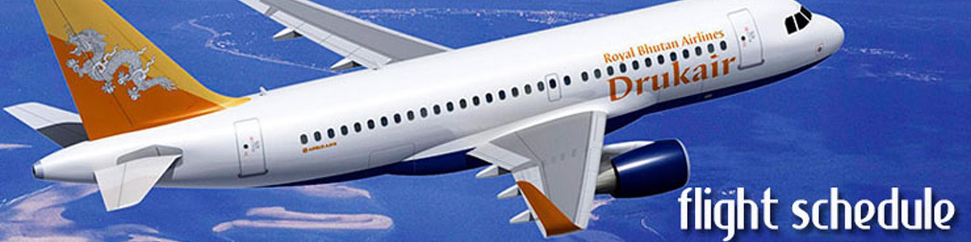 Bhutan Airlines flight schedule